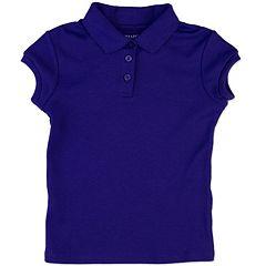 Girls 4-6x Chaps Interlock School Uniform Polo