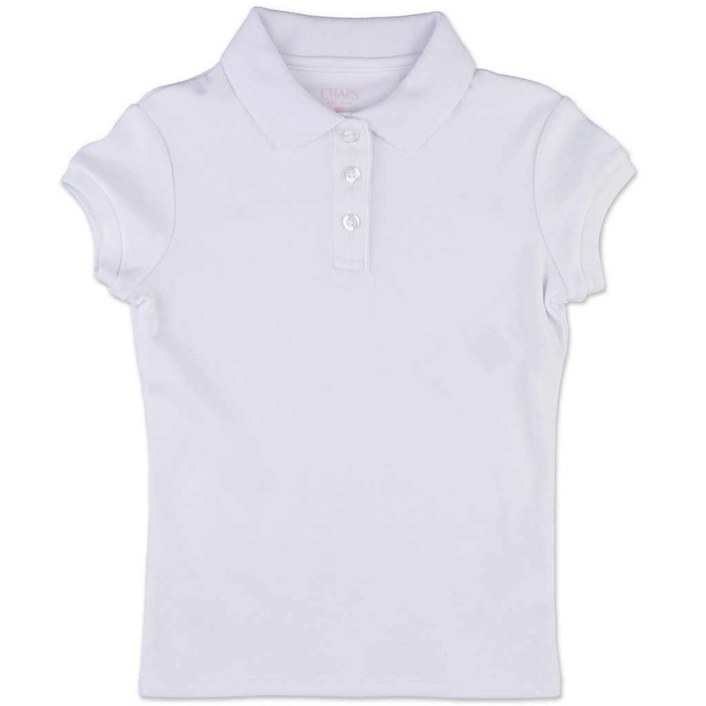 Girls 4-6x Chaps Interlock School Uniform Polo