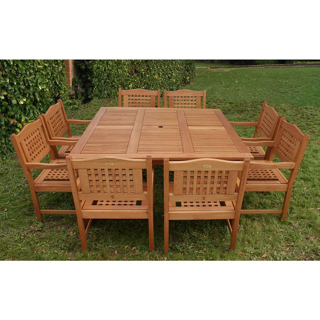 Atlantic Roma 9-pc. Square Dining Set - Outdoor