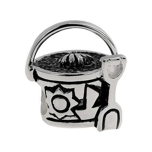 Individuality Beads Sterling Silver Sand Bucket  Bead
