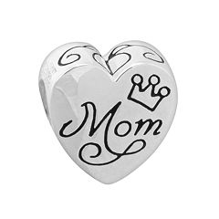 Disney Sterling Silver 'Mom' & 'My Home is my Castle' Heart Bead
