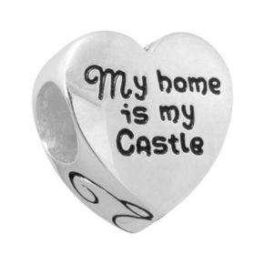 "Disney Sterling Silver ""Mom"" & ""My Home is my Castle"" Heart Bead"