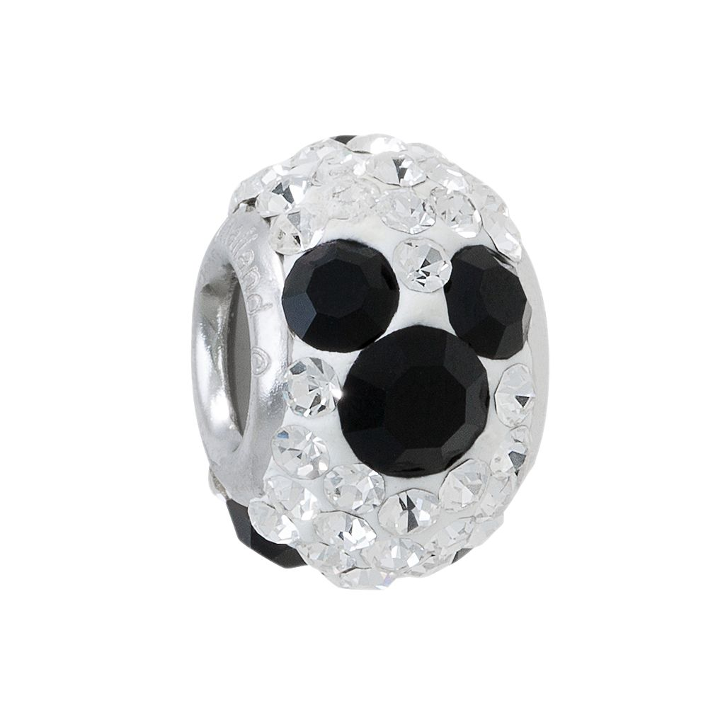 Disney Mickey Mouse Crystal Sterling Silver Bead