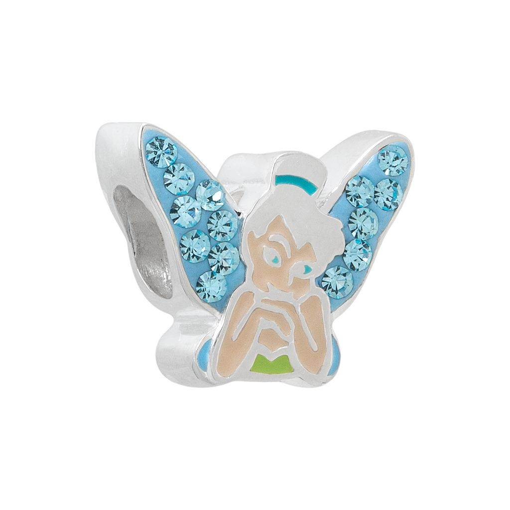 Disney Tinker Bell Crystal Sterling Silver Bead