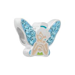 Disney Tinker Bell Crystal Sterling Silver Bead