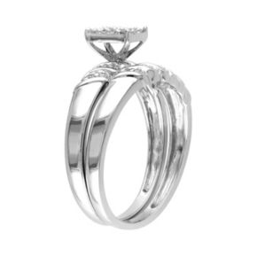 Stella Grace Diamond Engagement Ring Set in Sterling Silver (1/10 ct. T.W.)