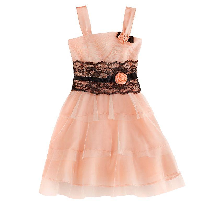Jessica McClintock Tiered Ruched Dress - Girls 7-16