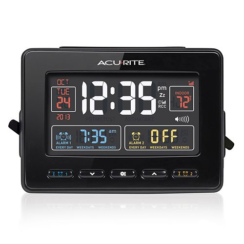 AcuRite Atomic Dual Alarm Clock with USB Charging