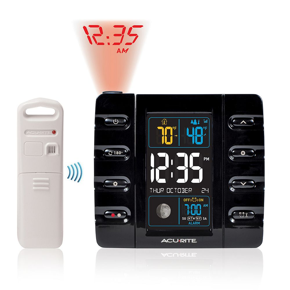 AcuRite Projection Alarm Clock with USB Charging