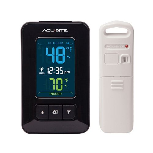 AcuRite Digital Indoor Outdoor Thermometer with Clock