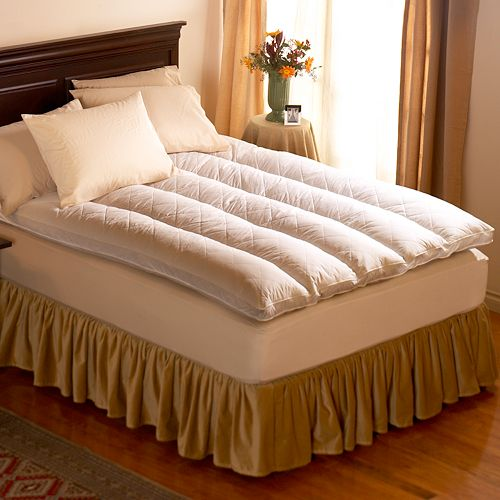 """Pacific Coast Feather 4-in. King Quilt Top Featherbed - 76"""" x 80"""""""