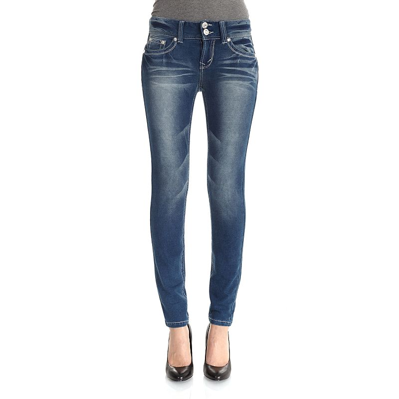 Wallflower Luscious Curvy Skinny Knit Jeans - Juniors