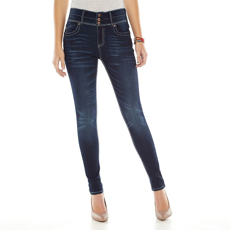 Hydraulic High-Waisted Skinny Jeans - Juniors (Blue)