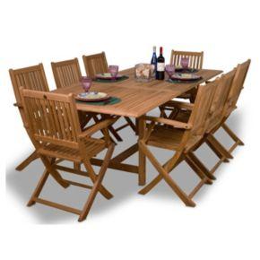 Amazonia Teak Cologne 9-pc. Extendable Rectangular Dining Set - Outdoor