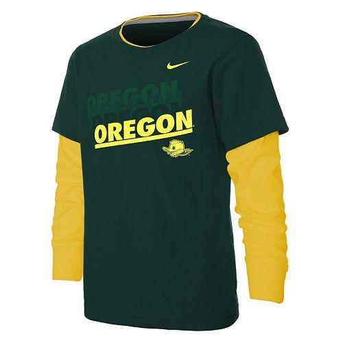 caefaba9 Boys 4-7 Nike Oregon Ducks Dri-FIT Mock-Layer Tee