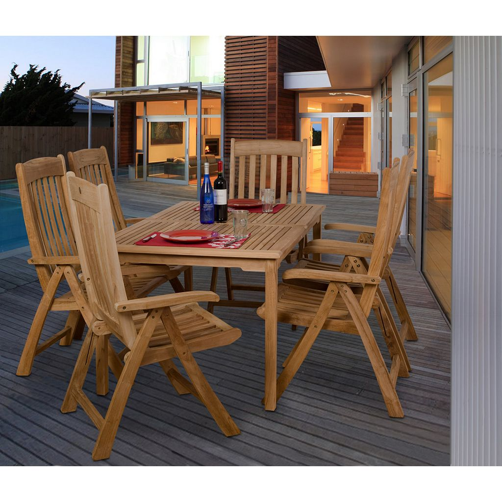 Amazonia Teak Gent Rectangular Patio Dining 7-piece Set