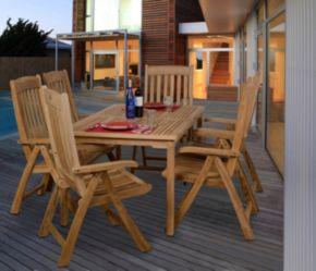 Amazonia Teak Gent Rectangular Patio Dining 7-piece Set