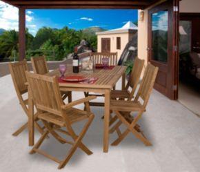 Amazonia Teak Utrecht Rectangular Patio Dining 7-piece Set