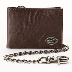 Dickies Slim Bifold Chain Leather Wallet - Men