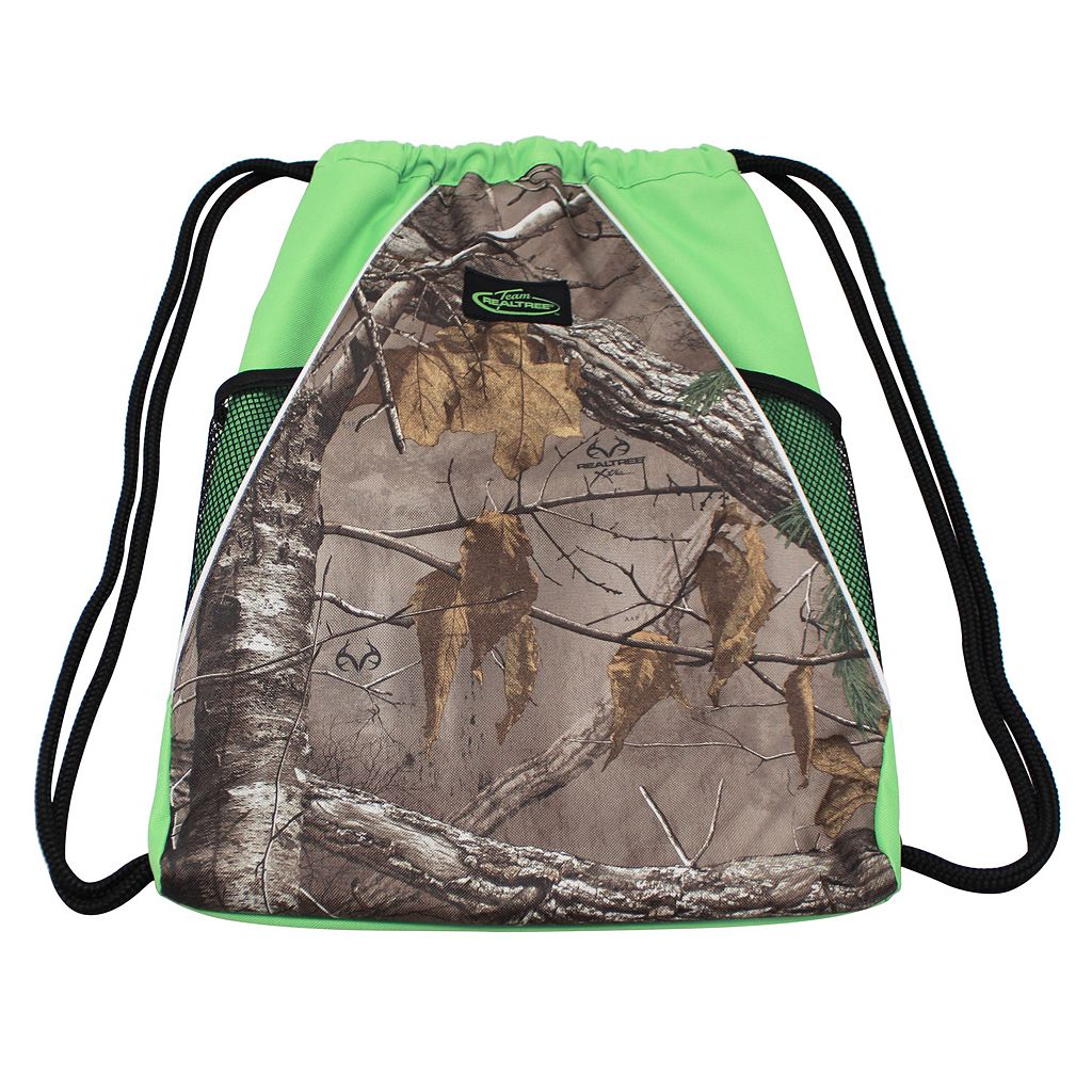 Realtree Camouflage Drawstring Backpack