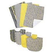 Trend Lab 8 pc Hello Sunshine Bib & Burp Cloth Set