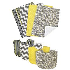 Trend Lab 8 pc Hello Sunshine Bib & Burp Cloth Set