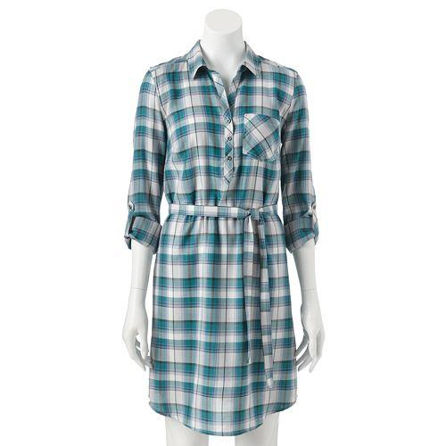 SONOMA Goods for Life™ Plaid Shirt Dress - Women's