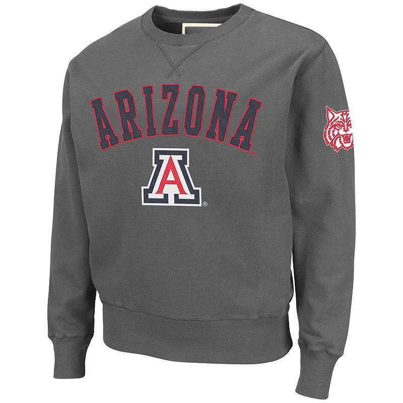 Colosseum Arizona Wildcats Hardware Crewneck Sweatshirt - Men