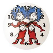 Trend Lab Dr. Seuss Thing 1 & Thing 2 Wall Clock