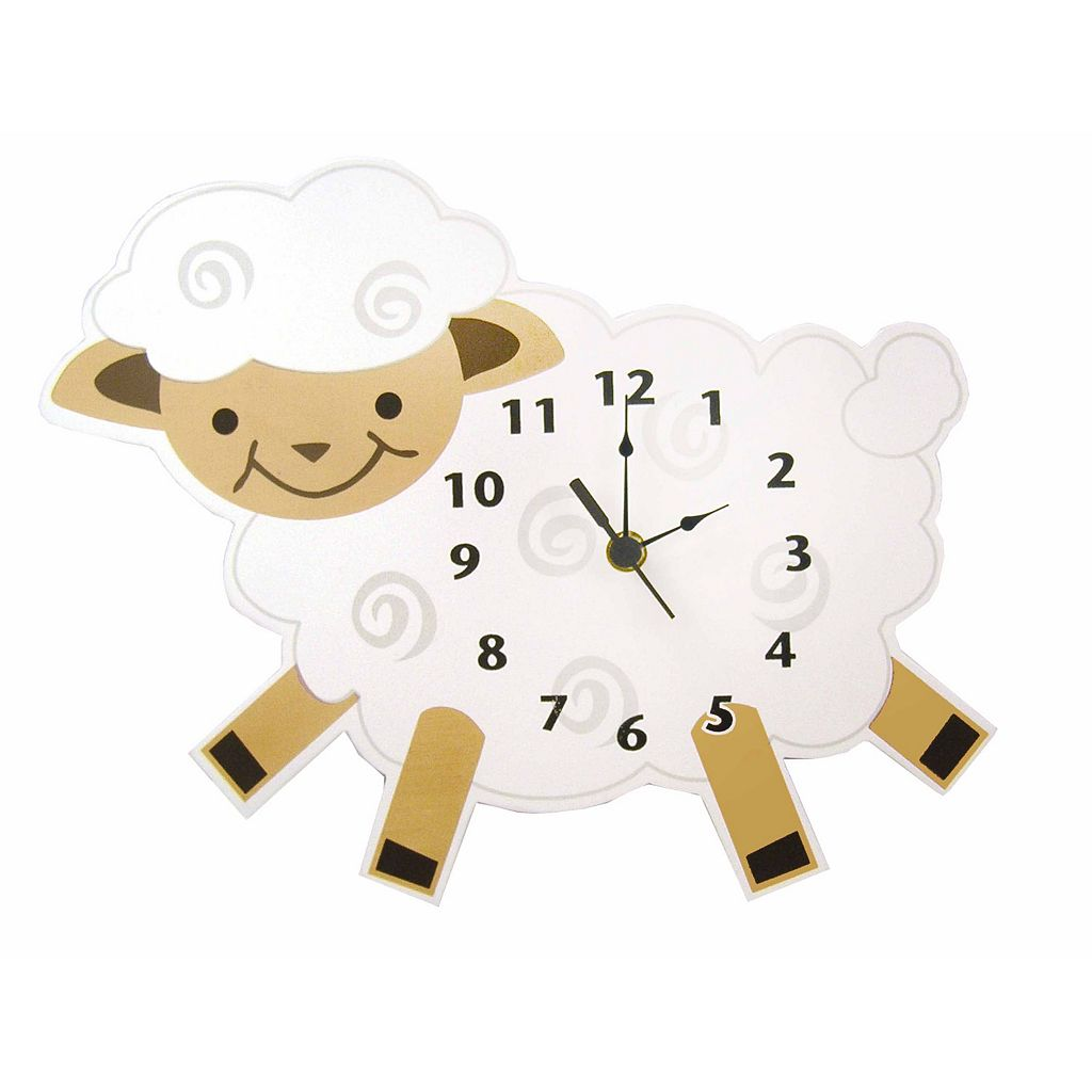 Trend Lab Baby Barnyard Lamb Wall Clock