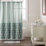 LC Lauren Conrad Ella Ruffle Fabric Shower Curtain