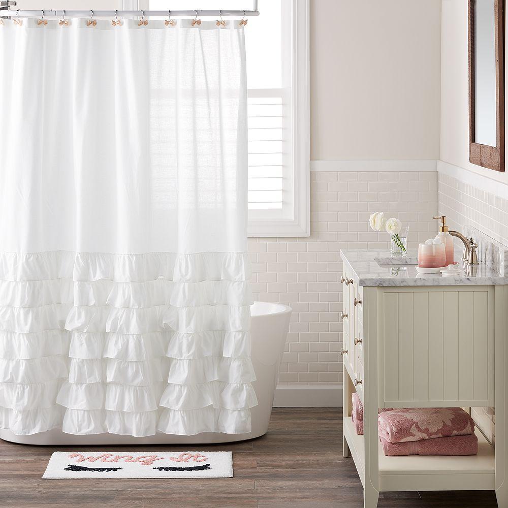 lauren conrad bathroom. LC Lauren Conrad Ella Ruffle Fabric Shower Curtain