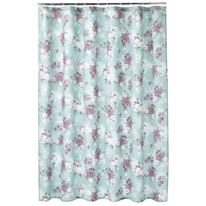 LC Lauren Conrad Floral Fabric Shower Curtain