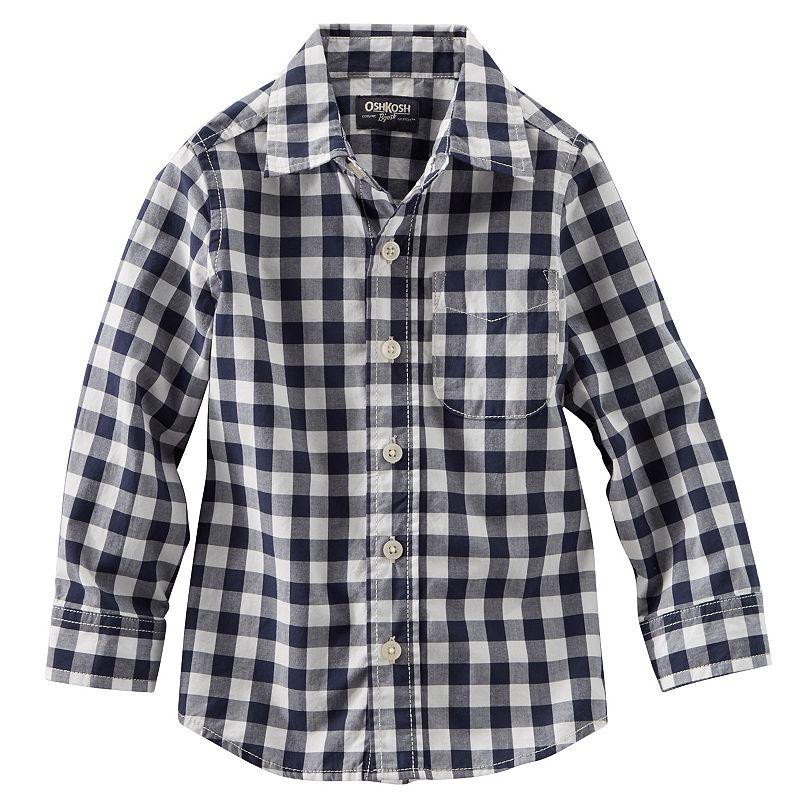 OshKosh B'gosh Button-Down Gingham Shirt - Toddler