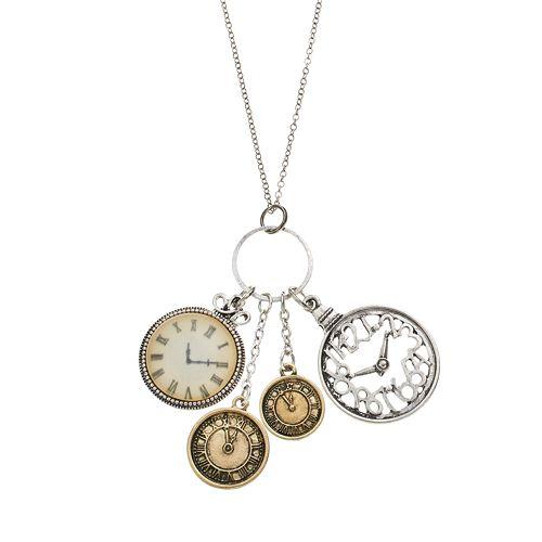 Mudd® Clock Charm Pendant