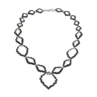 Le Vieux Silver-Plated Marcasite Necklace - Made with Swarovski Marcasite