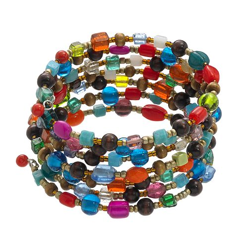 Mudd® Bead Coil Bracelet