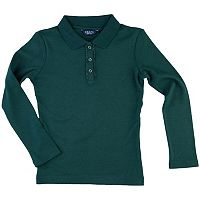 Girls 4-6x Chaps Ruffled Placket School Uniform Polo