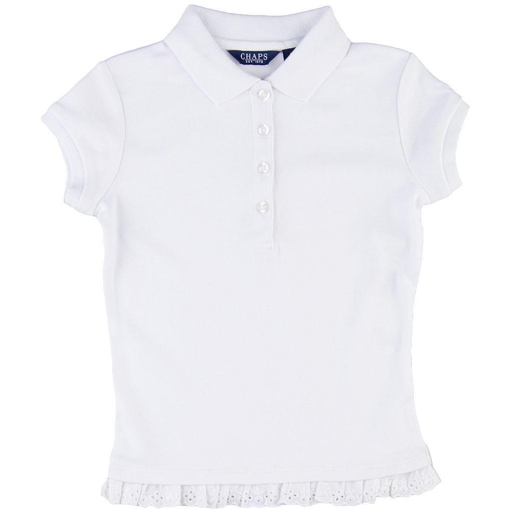 Girls 4-6x Chaps Eyelet School Uniform Polo