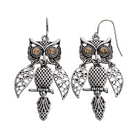 Mudd® Owl Drop Earrings