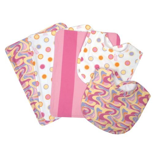 "Dr. Seuss ""Oh, The Places You'll Go"" Burp Cloth and Bib Wicker Basket 7-pc. Set by Trend Lab"