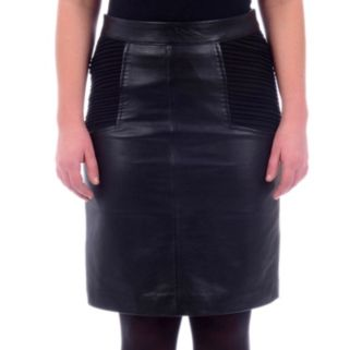 Women's Excelled Colorblock Leather Pencil Skirt