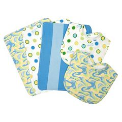 Dr. Seuss 'Oh, The Places You'll Go' Burp Cloth & Bib Wicker Basket 7 pc Set by Trend Lab
