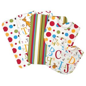 Dr. Seuss ABC Burp Cloth & Bib Wicker Basket 7-pc. Set by Trend Lab