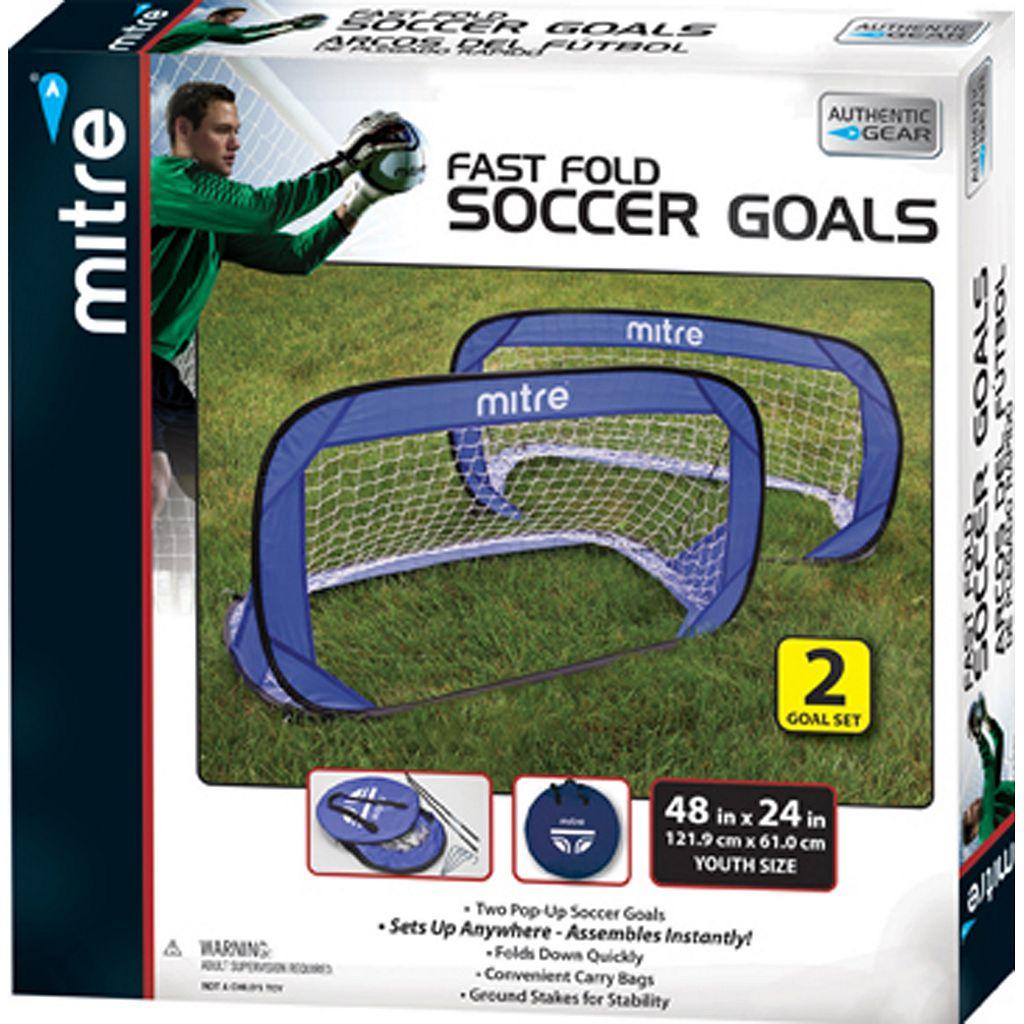 Mitre 2-pk. Fast Fold Soccer Goals