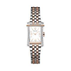 Bulova Watch - Women's Diamond Gallery Winslow Two Tone Stainless Steel - 98R186