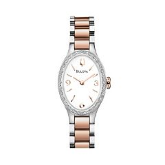 Bulova Watch - Women's Diamond Gallery Winslow Two Tone Stainless Steel - 98R190