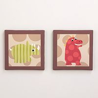 Belle Dino World 2-pk. Wall Art