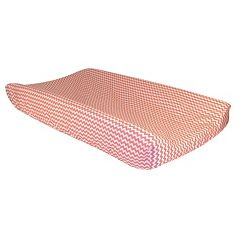 Trend Lab Cocoa Mint Chevron Changing Pad Cover