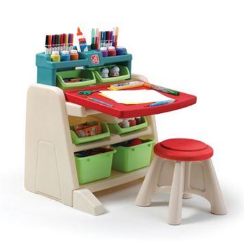 Step2 Flip & Doodle Easel Desk with Stool